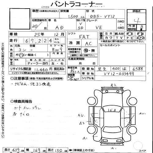 used nissan ad van by japanese used cars exporter